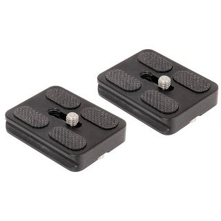 Ivation Replacement Quick Release Plates for the MeFoto A1350Q1W Roadtrip Travel Tripod Kit (White) (Set of 2)