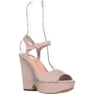madden girl Cena Platform Wedge Sandals, Taupe