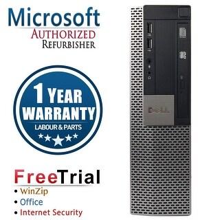 Refurbished Dell OptiPlex 980 SFF Intel Core I5 650 3.2G 4G DDR3 250G DVD WIN 10 Pro 64 Bits 1 Year Warranty - Black