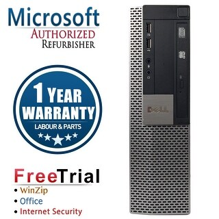 Refurbished Dell OptiPlex 980 SFF Intel Core I5 650 3.2G 4G DDR3 250G DVD Win 7 Pro 64 Bits 1 Year Warranty - Black