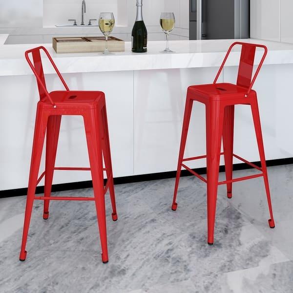 Incredible Shop Vidaxl 2X Metal Bar Stools 40 Vintage Antique Style Customarchery Wood Chair Design Ideas Customarcherynet