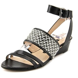 French Connection Wiley Open Toe Leather Wedge Sandal