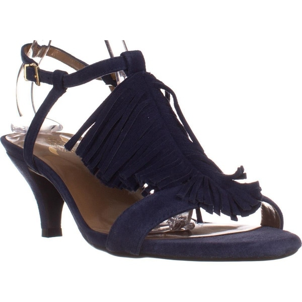 Aerosoles Charade Fringe Heelrest Sandals, Blue