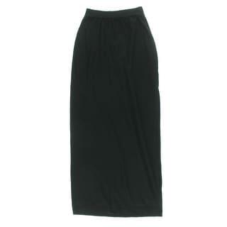 Splendid Womens Modal Blend Side Slit Maxi Skirt - S