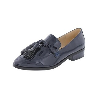 IMNYC Isaac Mizrahi Womens Bianca Loafers Patent Leather Tassel