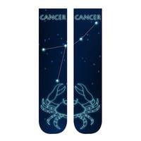Unisex Adult Horoscope Socks - Astrological Sign Print - Cancer - One size