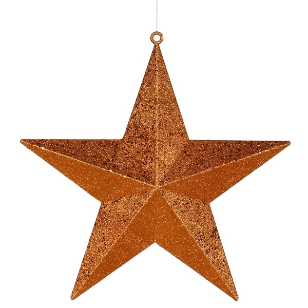 "20"" Burnish Orange Glitter Star"