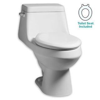 American Standard 2862.058 Fairfield 1.28 GPF One-Piece Elongated Toilet with Seat