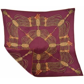 "Gucci 325751 Bordeaux Red Golden Chain Silk Twill Square Scarf 35 x 35 - 35"" x 35""|https://ak1.ostkcdn.com/images/products/is/images/direct/d85ff4d9887bb109d27323f9b2c532f4cf086252/Gucci-325751-Bordeaux-Red-Golden-Chain-Silk-Twill-Square-Scarf-35-x-35.jpg?impolicy=medium"