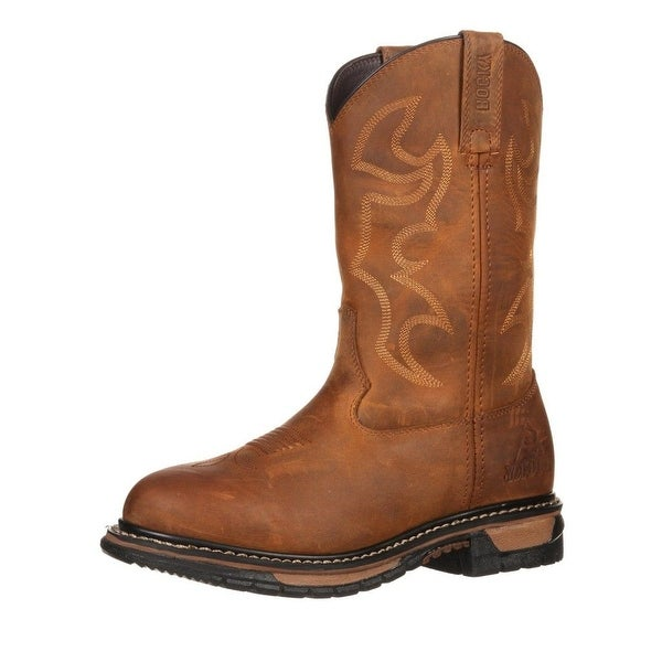 "Rocky Western Boots Womens 10"" Original Ride WP Aztec"