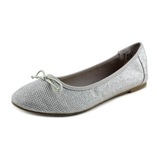 Report Marlee Women Round Toe Synthetic Silver Flats