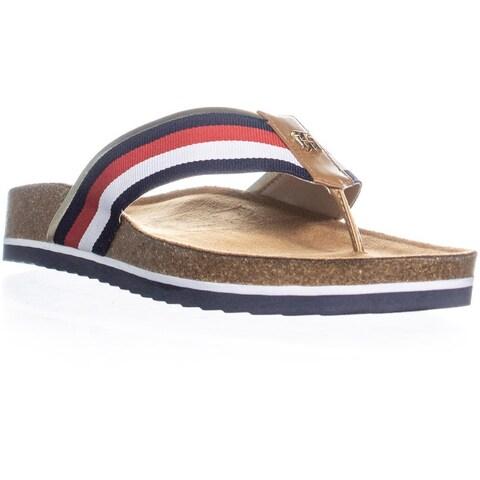 Tommy Hilfiger Giulio Flat Slide Sandals, Medium Blue