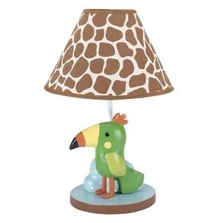 Lambs & Ivy Green Peek A Boo Jungle Lamp with Shade & Bulb