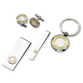 Chisel Stainless Steel with Yellow IP 4-piece Boxed Set