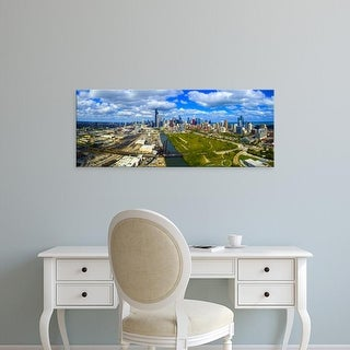 Easy Art Prints Panoramic Images's 'Aerial view of Chicago, Cook County, Illinois, USA' Premium Canvas Art
