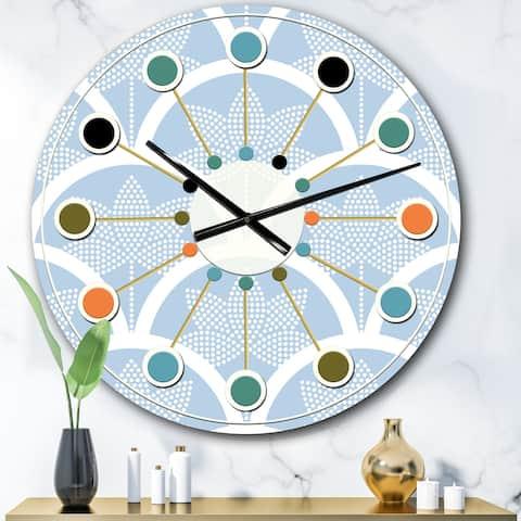 Designart 'Japanese style Half-circle pattern' Mid-Century wall clock