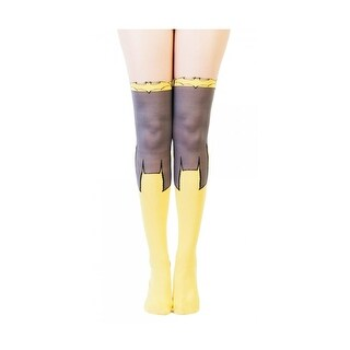DC Comics Batgirl Women's Sheer Costume Tights - Yellow