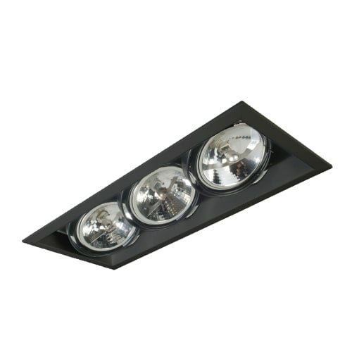 Eurofase lighting te103 multiple recessed gu5 3 3 light recessed trim for ar111