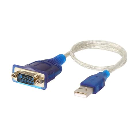 Sabrent SBT-USC1M Sabrent USB to Serial Cable Adapter - Serial - 1 ft - Type A Male USB - DB-9 Male Serial