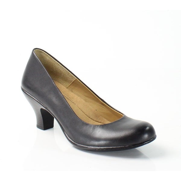 Softspots NEW Black Salude Shoes Size 7N Pumps Leather Heels