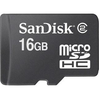 "SanDisk SDSDQM016GB35M microSDHC 16GB 3"" x 5"" Blister Pkg"