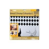 Plaid Folkart Stencil 12x12 Designer Swallow Set