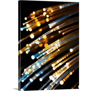 Premium Thick-Wrap Canvas entitled Fiber optic cable