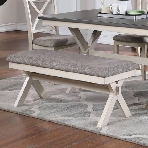 Furniture of America Paiz Modern Two-Seater Dining Bench