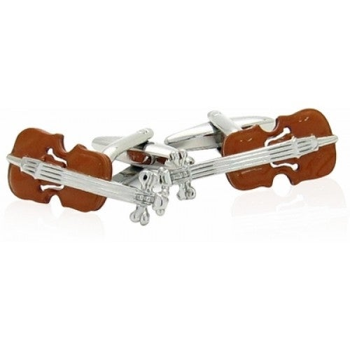 Wood Violin Music Musician Violinist Classical Cufflinks