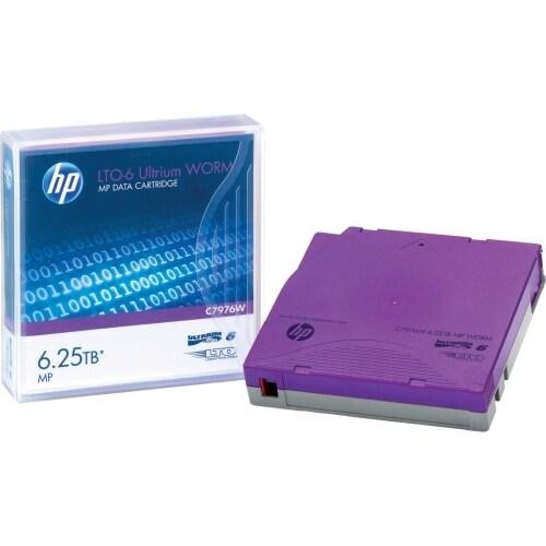 Hewlett Packard C7976W HP LTO-6 Ultrium 6.25TB MP WORM Data Cartridge - LTO-6 -