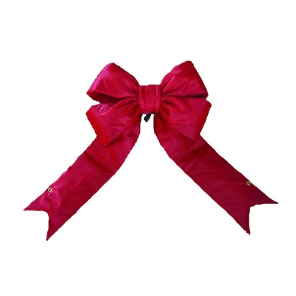 "36"" x 45"" Red Indoor/Outdoor 4-Loop Structural Commercial Christmas Bow Decoration"