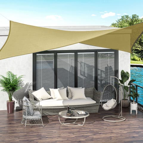 Outsunny 20' x 16' Rectangle Outdoor Patio Sun Shade Sail Canopy