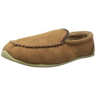 Deer Stags Mens Alpen Faux Fur Lining Indoor/Outdoor Loafer Slippers