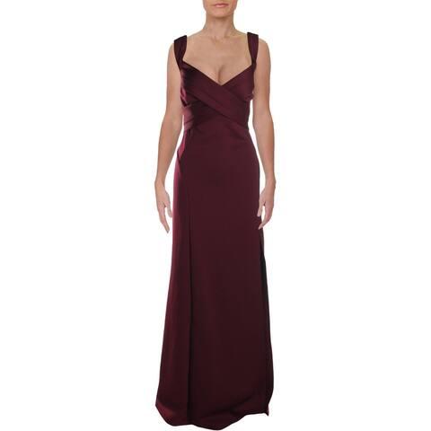 Emerald Sundae Womens Plus Formal Dress Banded Paneled - Wine - 2X