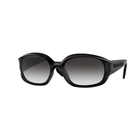 Burberry BE4338 34648G 56 Black Man Oval Sunglasses