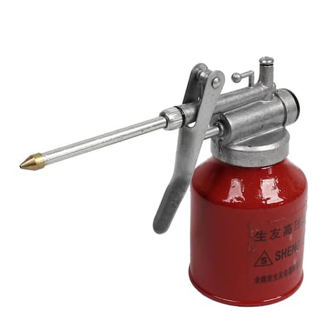 Unique Bargains High Pressure Feed Handheld Compressed Air Oil Gun Bottle Red