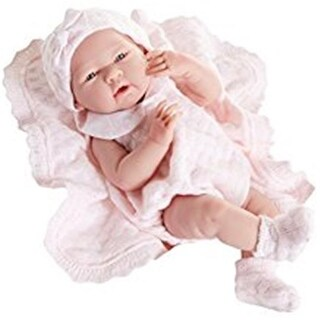 All-Vinyl Doll Knit Outfit with Blanket - Real Girl, Pink