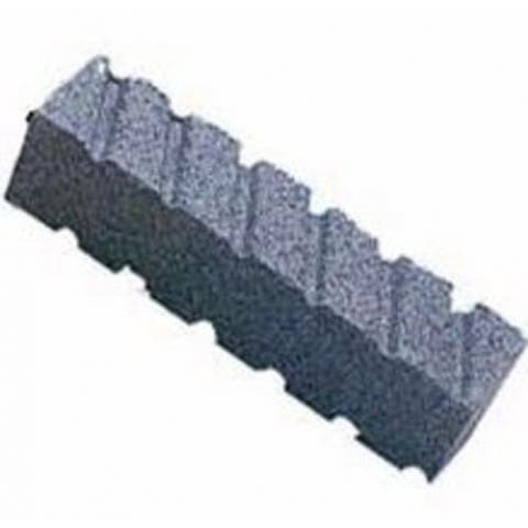 "Norton 87845 Rubbing Brick, Fluted, Extra Coarse, 8"" x 2"" x 2"""