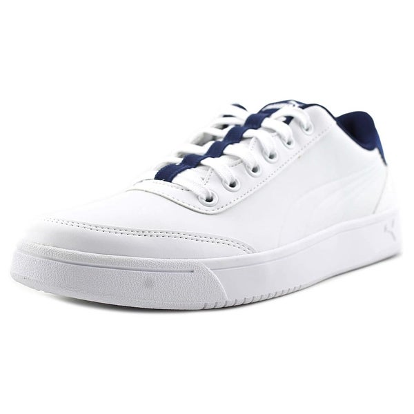 Puma Court Breaker L Men Round Toe Leather White Sneakers
