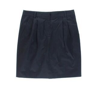DKNY Womens Pencil Skirt Poplin Knee-Length - 14