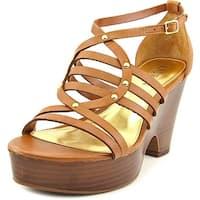 LAUREN by Ralph Lauren Womens Raegan Leather Open Toe Casual Strappy Sandals