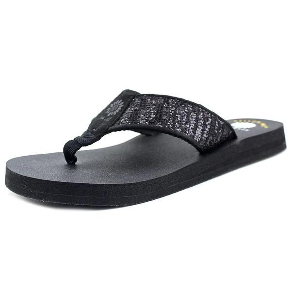 Yellow Box Mercedes   Open Toe Canvas  Thong Sandal