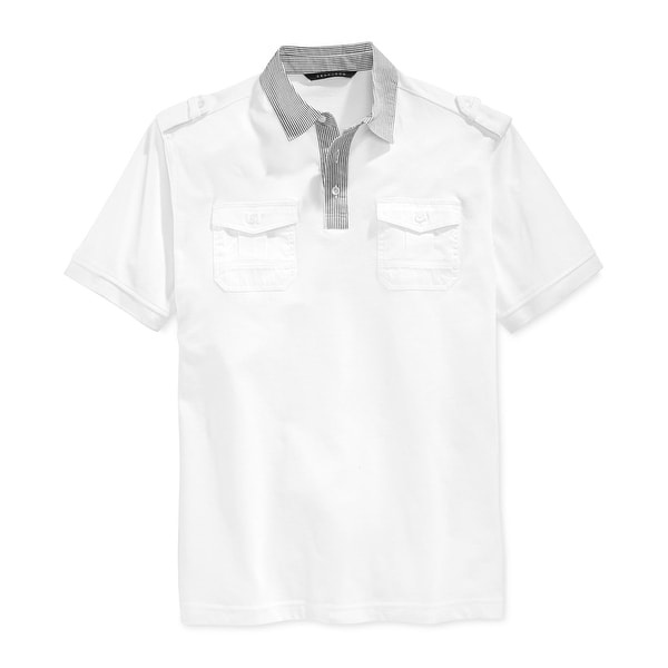 2432e0d64bd Shop Sean John NEW Bright White Mens Size 4XL Big   Tall Polo Pique Shirt - Free  Shipping On Orders Over  45 - Overstock.com - 18346335