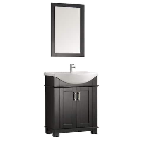 """Fresca Hartford 30"""" Black Traditional Bathroom Vanity"""