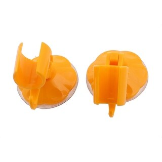 Bathroom Wall Mounted Suction Cup Shower Head Holder Orange 2pcs