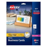 Avery Two-Side Printable Premium Business Cards, 2 x 3-1/2 Inches, White, Pack of 200