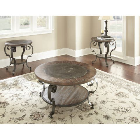 Mayview Mixed Media Wood, Stone and Metal 3-Piece Occasional Set by Greyson Living