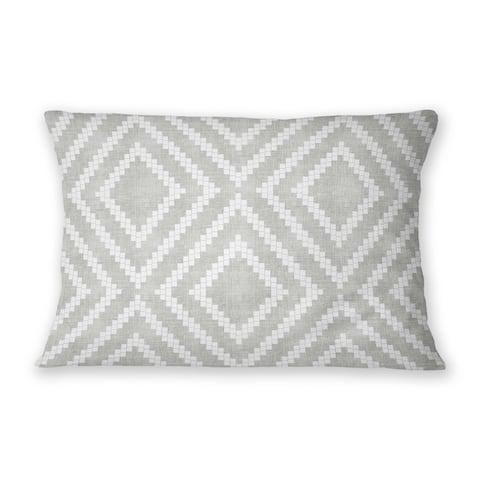 LOOM GREY Indoor Outdoor Lumbar Pillow By Becky Bailey
