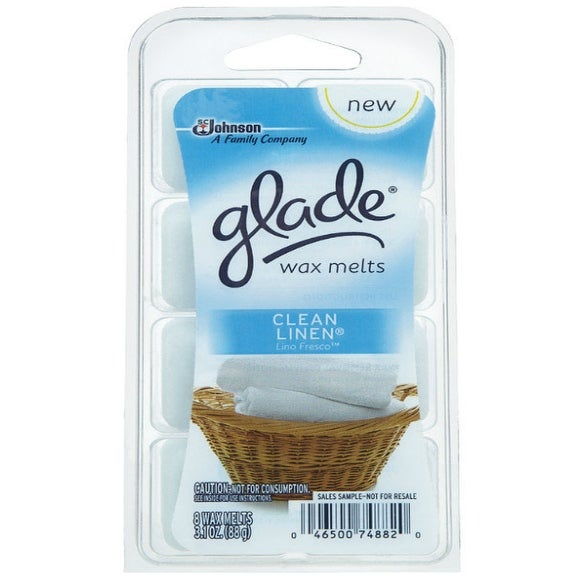 Glade 75764 Air Freshener Wax Melts, Clean Linen