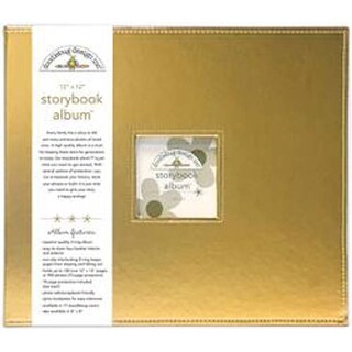 "Gold Metallic - Doodlebug Storybook Metallic Album 12""X12"""